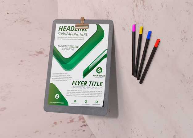 Business corporate identity template for flyer