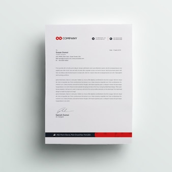 Business corporate letterhead