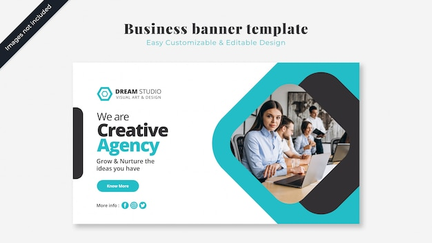 Business cover mockup with image