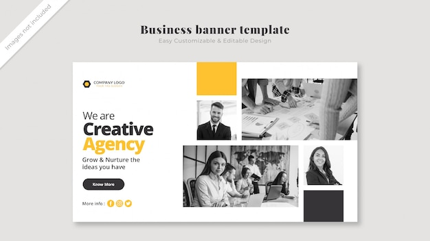 Business cover mockup with images