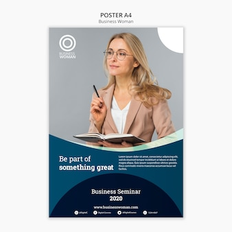 Business design for poster template