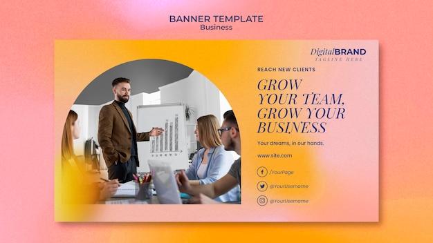 사진이 있는 비즈니스 개발 배너 템플릿