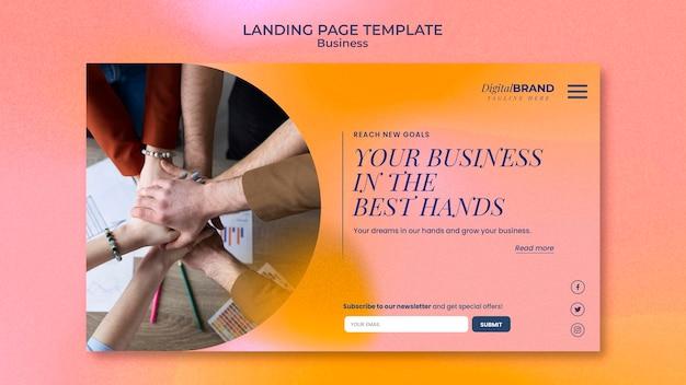 사진이 있는 비즈니스 개발 방문 페이지 템플릿