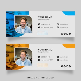 Business email signature set template