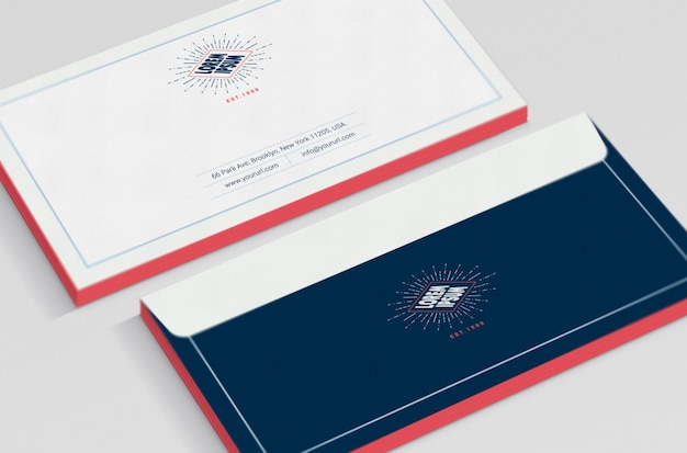 Business envelope mock up