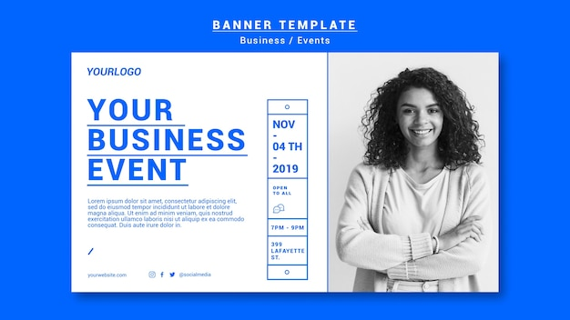 Business event banner template