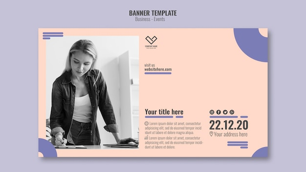 Business event concept for template