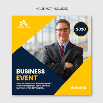 Business event social media banner