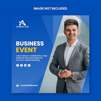Business event social media banner