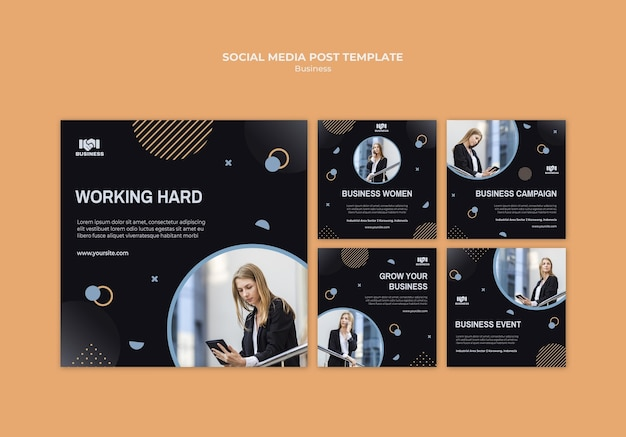 Business event social media post template