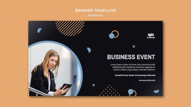 Business event template banner