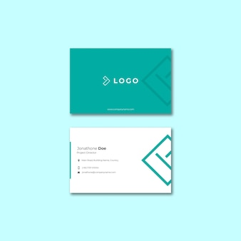 Business event with business card template