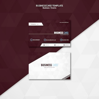 Business events business card template