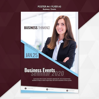 Business events flyer template
