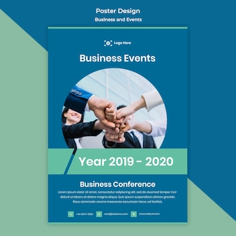 Business and events poster design template