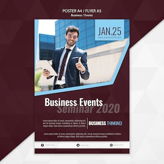 Business events poster template