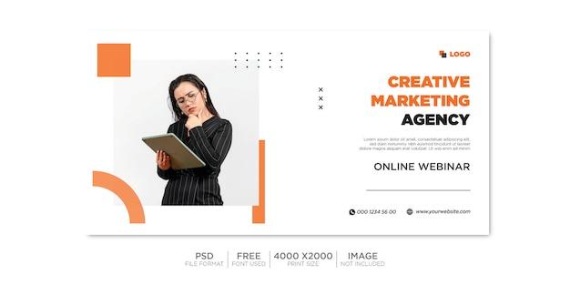 Деловая обложка facebook и веб-баннер premium psd