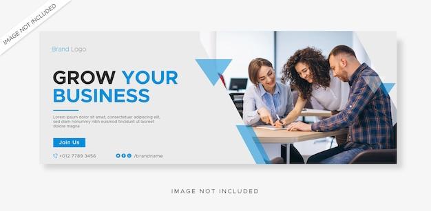 비즈니스 페이스 북 커버 및 웹 배너 템플릿