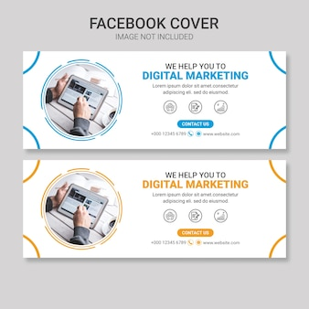 Business facebook cover design template