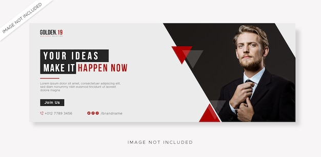 Business facebook cover and web banner mock up