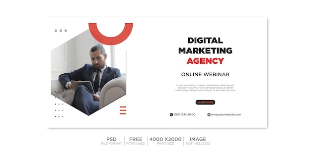 Business facebook cover and web banner premium psd