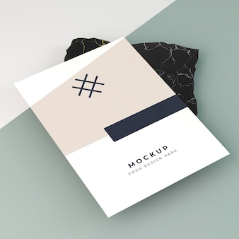 Business flyer card mock-up