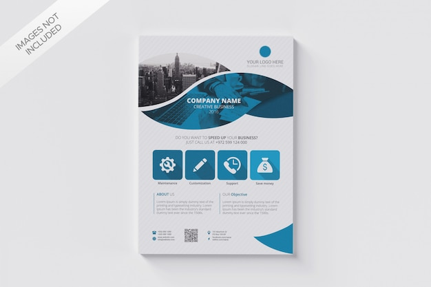 Business flyer size a4 template