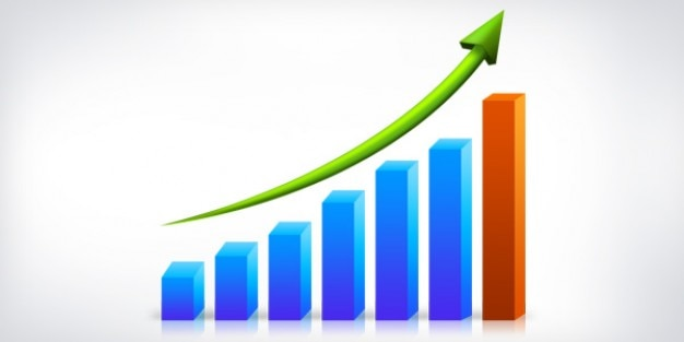 ビジネスの成長グラフpsd