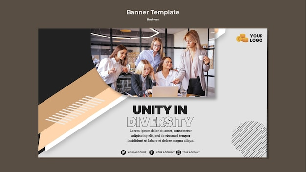 Business horizontal banner template