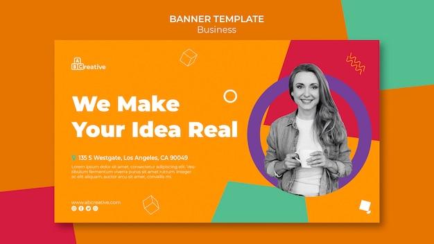 Шаблон баннера бизнес-идеи