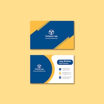 비즈니스 정체성 카드 템플릿 개념