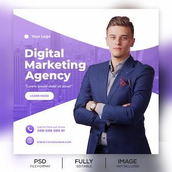Business instagram post banner template