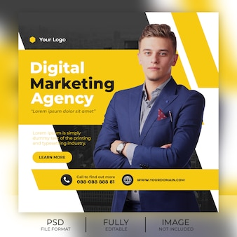 Business instagram post template banner
