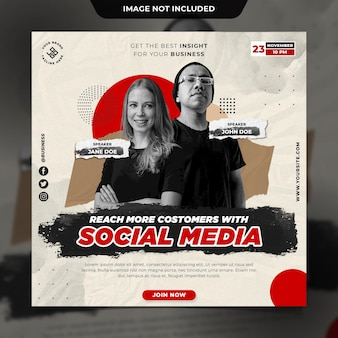 Шаблон сообщения в социальных сетях бизнес instagram
