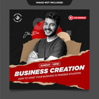 Business instagram social media post template