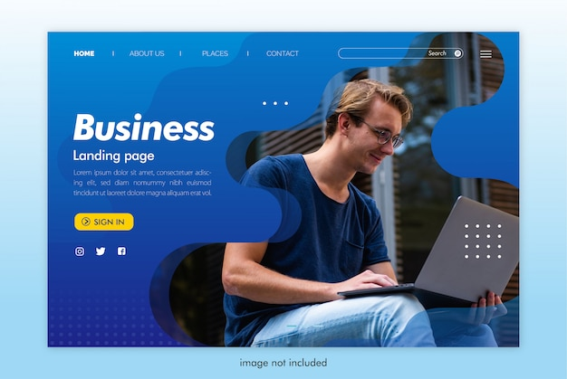 Business landing page website template