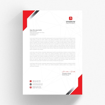 Business letterhead mockup isolated