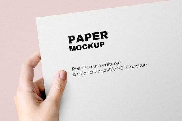 Carta intestata aziendale mockup psd minimal paper stationery