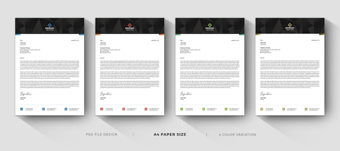 business letterhead professional modern templates