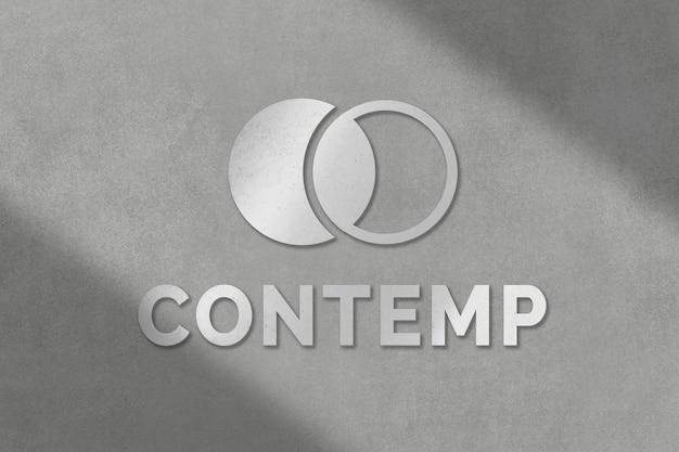 Modello psd logo aziendale in stile metallico