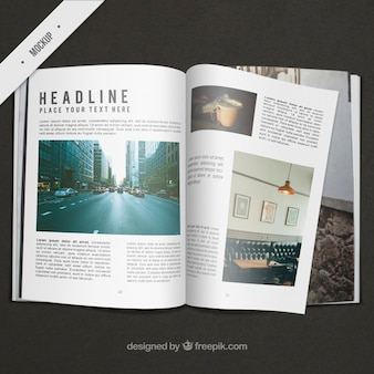 Business magazine mockup