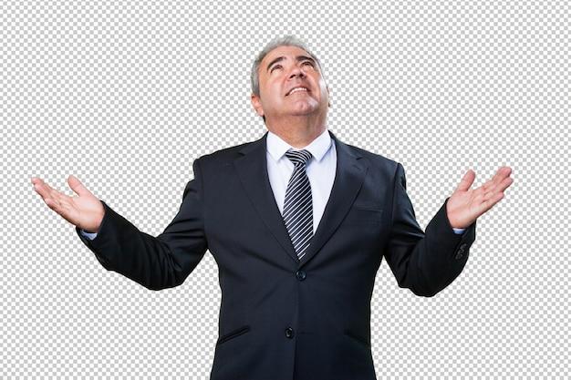 Business man praying