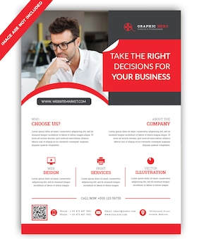Business markebting flyer template
