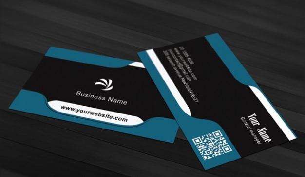 Business market card psd template