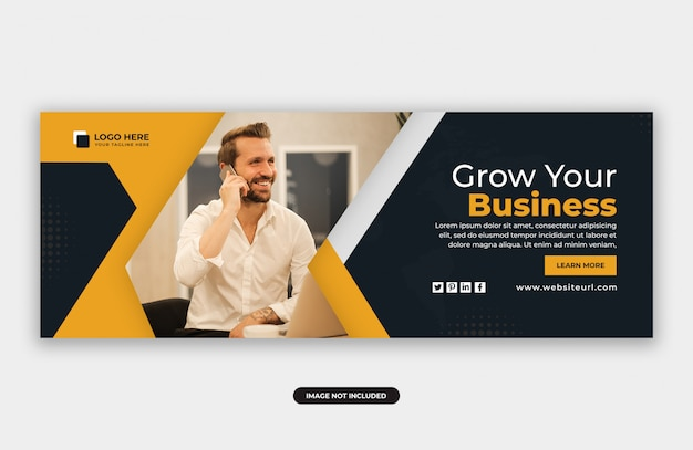 Business marketing facebook cover banner design
