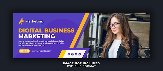 Business marketing facebook cover template
