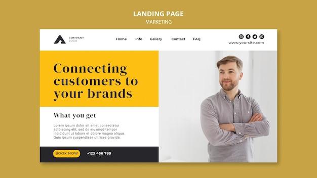 Business marketing landing page