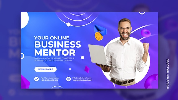 Business marketing promotion agency flyer and corporate social media banner template premium psd