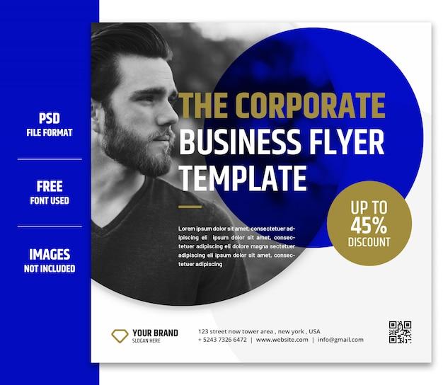 비즈니스 마케팅 소셜 미디어 배너 또는 사각형 전단지 서식 파일 프리미엄 psd-7