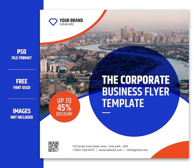 비즈니스 마케팅 소셜 미디어 배너 또는 사각형 전단지 서식 파일 프리미엄 psd-9